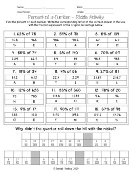 Percent Riddle Activity