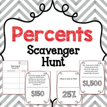 {FREE} Scavenger Hunt: Percent