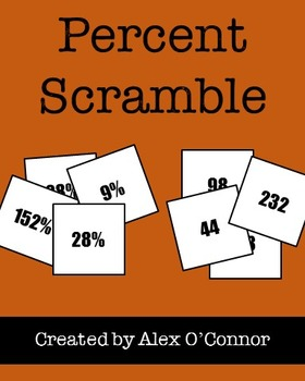 Percent Scramble! - Finding the Percent of a Number