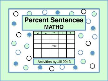 Percent Sentence MATHO