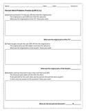 Percent Story Problems 6.RP.A.3.c Version A