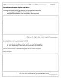 Percent Story Problems 6.RP.A.3.c Version C