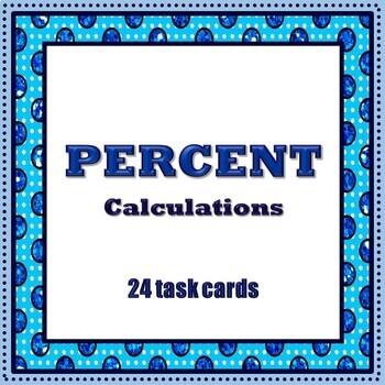 Percent Task Cards