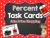 Percent Task Cards Sale Price Shopping