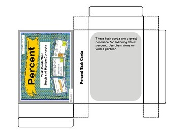 Percent Task Cards (Task Cards That Teach and Review Math Concepts)