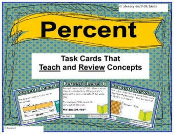 Percent Task Cards (Task Cards That Teach and Review Math