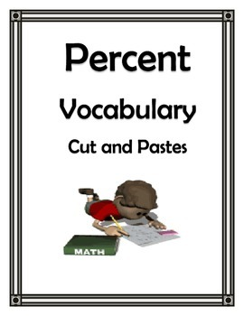 PERCENT APPLICATIONS VOCABULARY