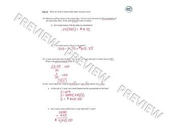 Percent Test