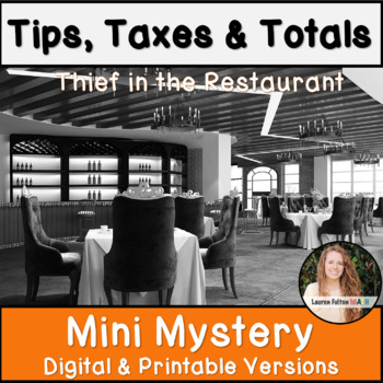 Percent Tip, Tax, and Total Activity! Mini Mystery!