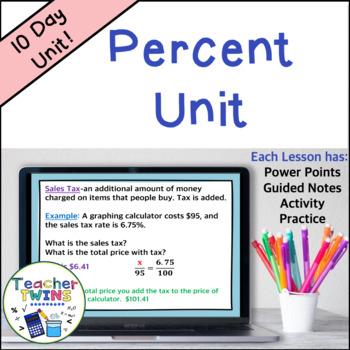 Percent Unit Common Core 7 RP 3