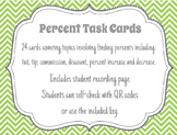 Percent Word Problem Task Cards