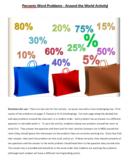 Percent Word Problems Scavenger Hunt Activity