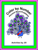 Percent Word Problems Color by Number (Distance Learning)