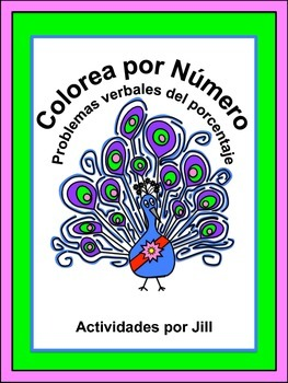 Percent Word Problems Color by Number (Spanish)