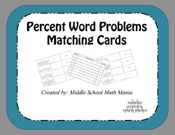 Percentage Word Problems | Word problems, Percents and Math