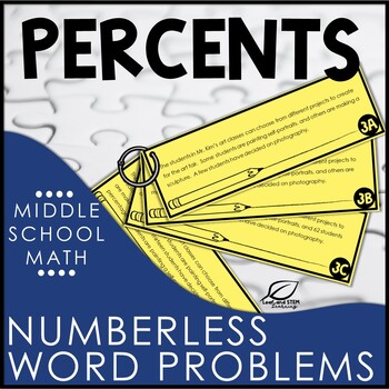 Percent Word Problems | Numberless Word Problems