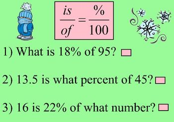 Percent Word Problems Review