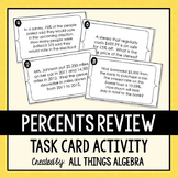 Percent Word Problems Task Cards
