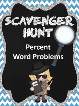 Percent Word Problems Scavenger Hunt