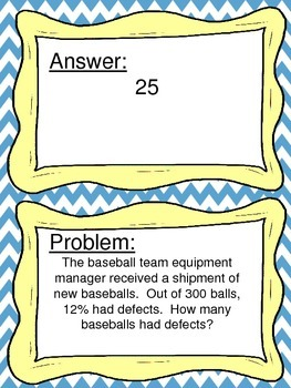 Percent Word Problems Scavenger Hunt