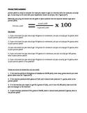 Percent Yeild worksheet