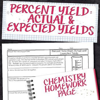 Percent Yield Chemistry Homework Worksheet