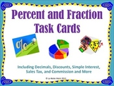 Percent and Fraction Task Cards and More