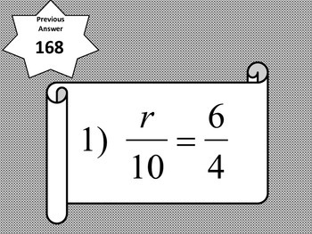 Percent and Proportions Activty