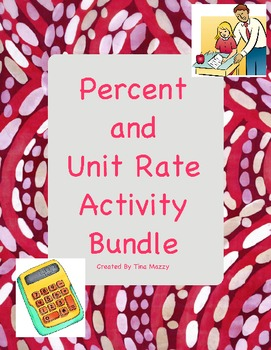 Percent and Unit Rate Activity Bundle - Middle / High School