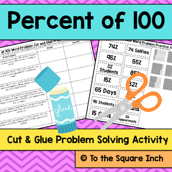 Percent of 100 Word Problems