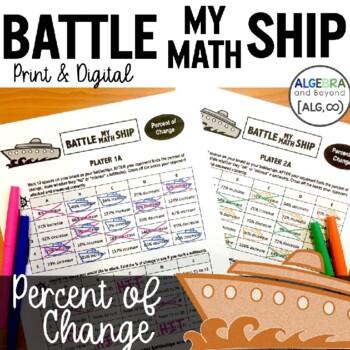 Percent of Change Activity - Battle My Math Ship Game