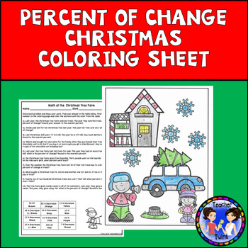 Percent of Change Christmas Coloring Sheet