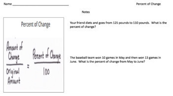 Percent of Change (Google Form & Interactive Video Lesson!)