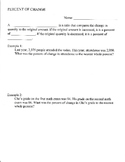 Percent of Change Guided Notes