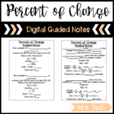 Percent of Change Guided Notes - Digital