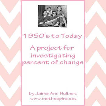 Percent of Change Project - 1950's to Today