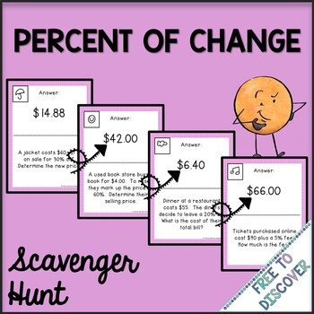 Percent of Change Activity - Scavenger Hunt