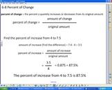 Percent of Change Smartboard Lesson