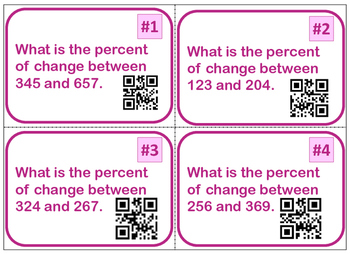 Percent of Change Task Cards