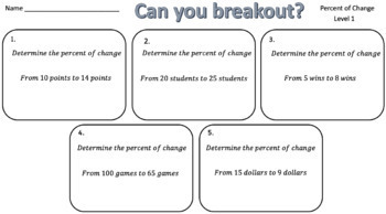 Percent of Change – Two Breakout Activities!