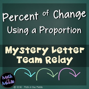 Percent of Change (Using a Proportion) Team Relay