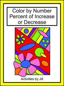 Percent of Increase or Decrease Color by Number