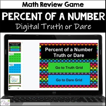 Percent of a Number Truth or Dare Math Game for Google Classroom|Slides