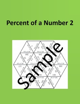 Percent of a Number 2 – Math puzzle