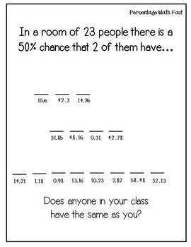 Percentages Activity {Calculating percents}