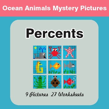 Percent of a Number - Color-By-Number Math Mystery Pictures
