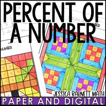 Percent of a Number Coloring Page Activity