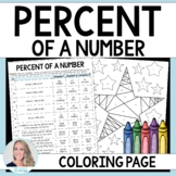 Percent of a Number Coloring Worksheet