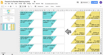Percent of a Number DIGITAL Matching Activity for Google Drive™ - Part, Whole, %