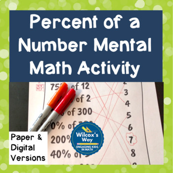 Percent of a Number Digital Activity for Google Slides